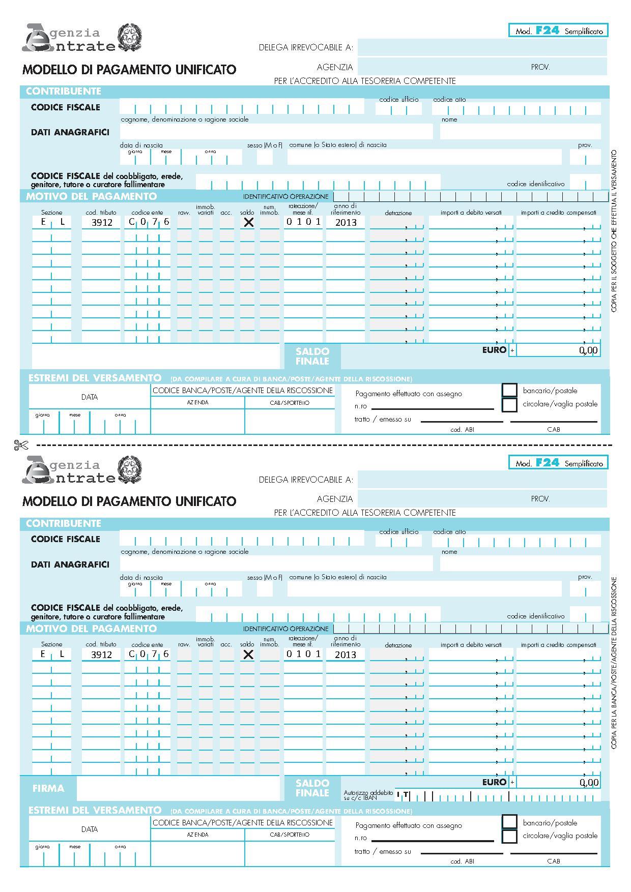 Agenzia delle entrate pagamento imu latest e stato for Pagamento imu